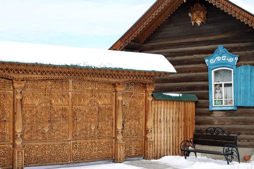 Срубы старообрядцев в районе Бурятии