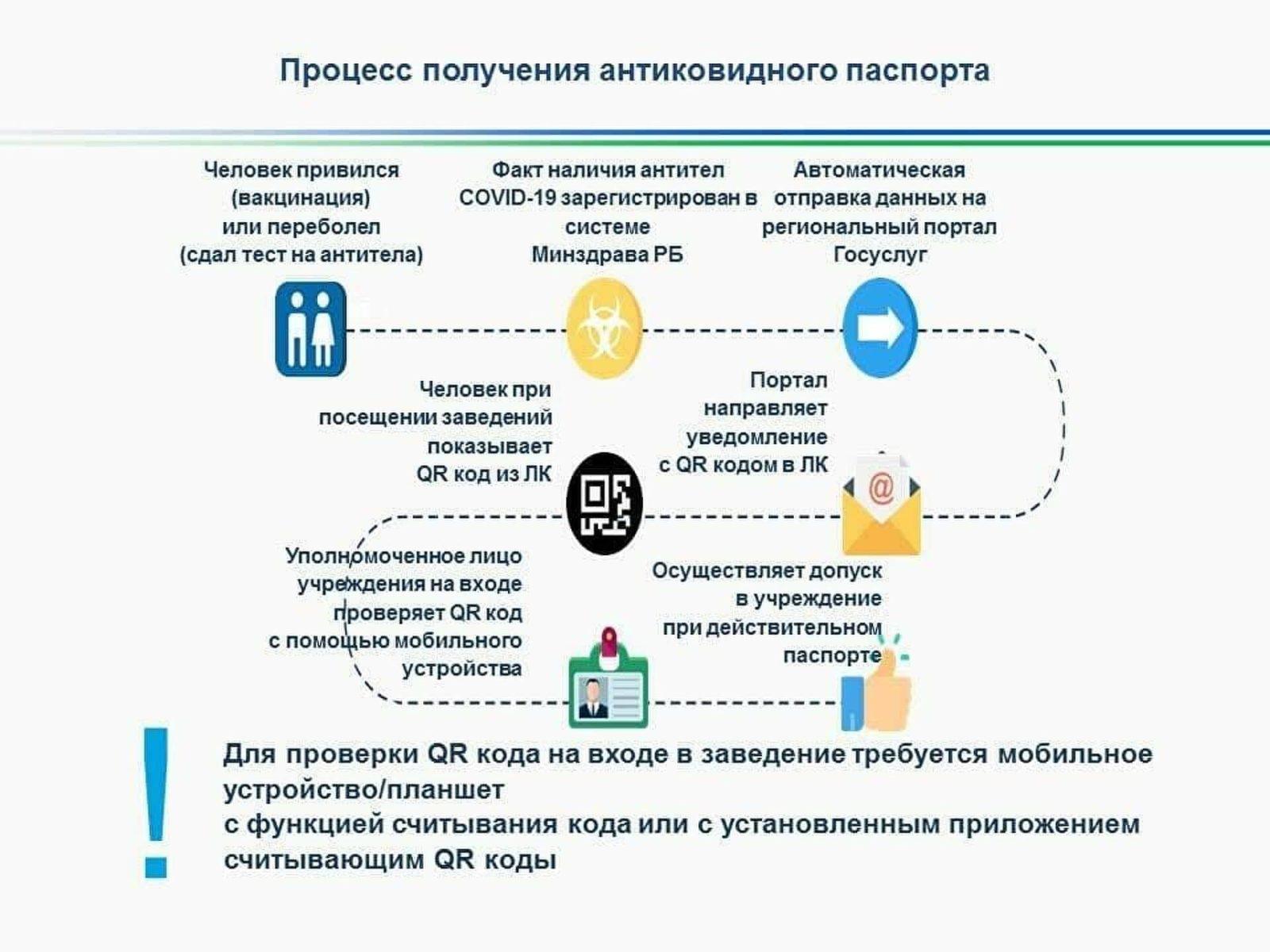 Процесс получения паспорта вакцинации от коронавируса