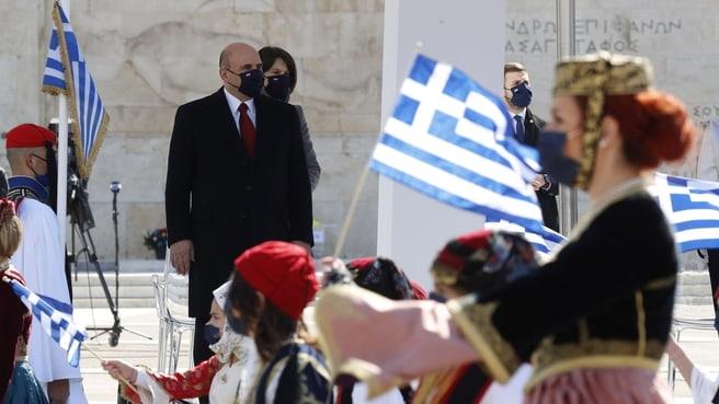 М. Мишустин на праздновании 200 летия греческой революции в Афинах