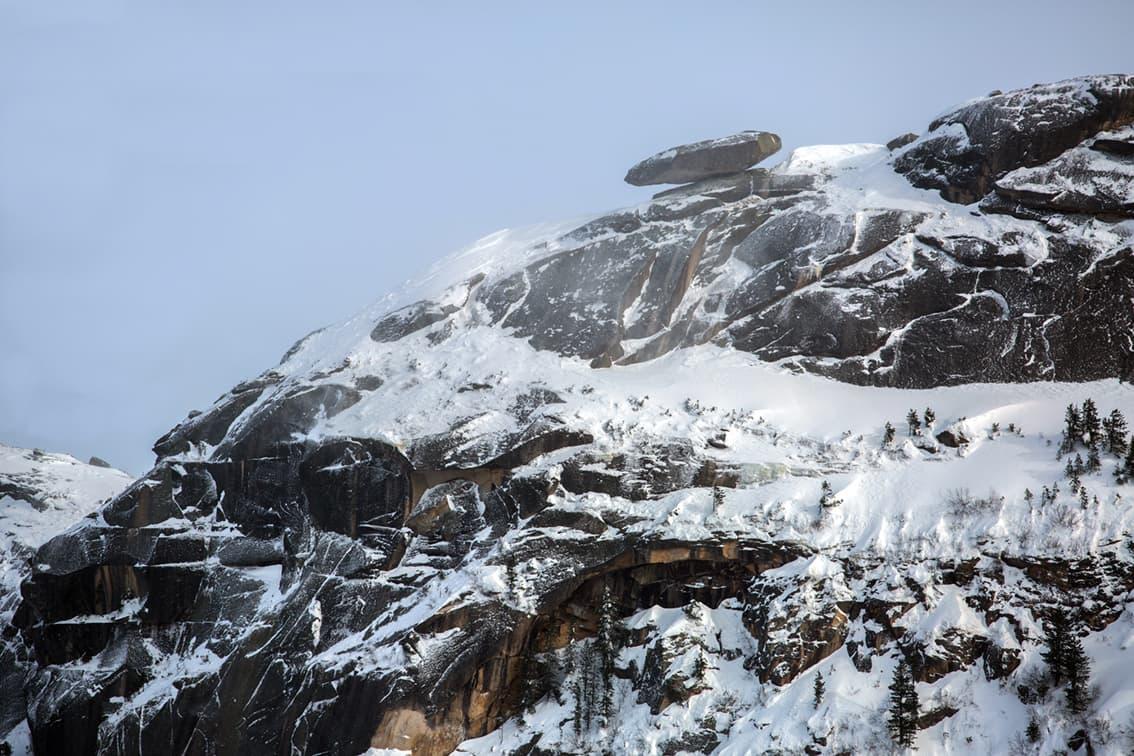 Природный парк Ергаки - висячий камень